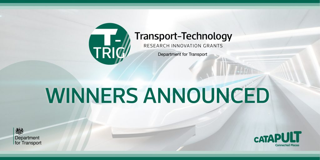 Department for Transport T-TRIG Winners Announced banner